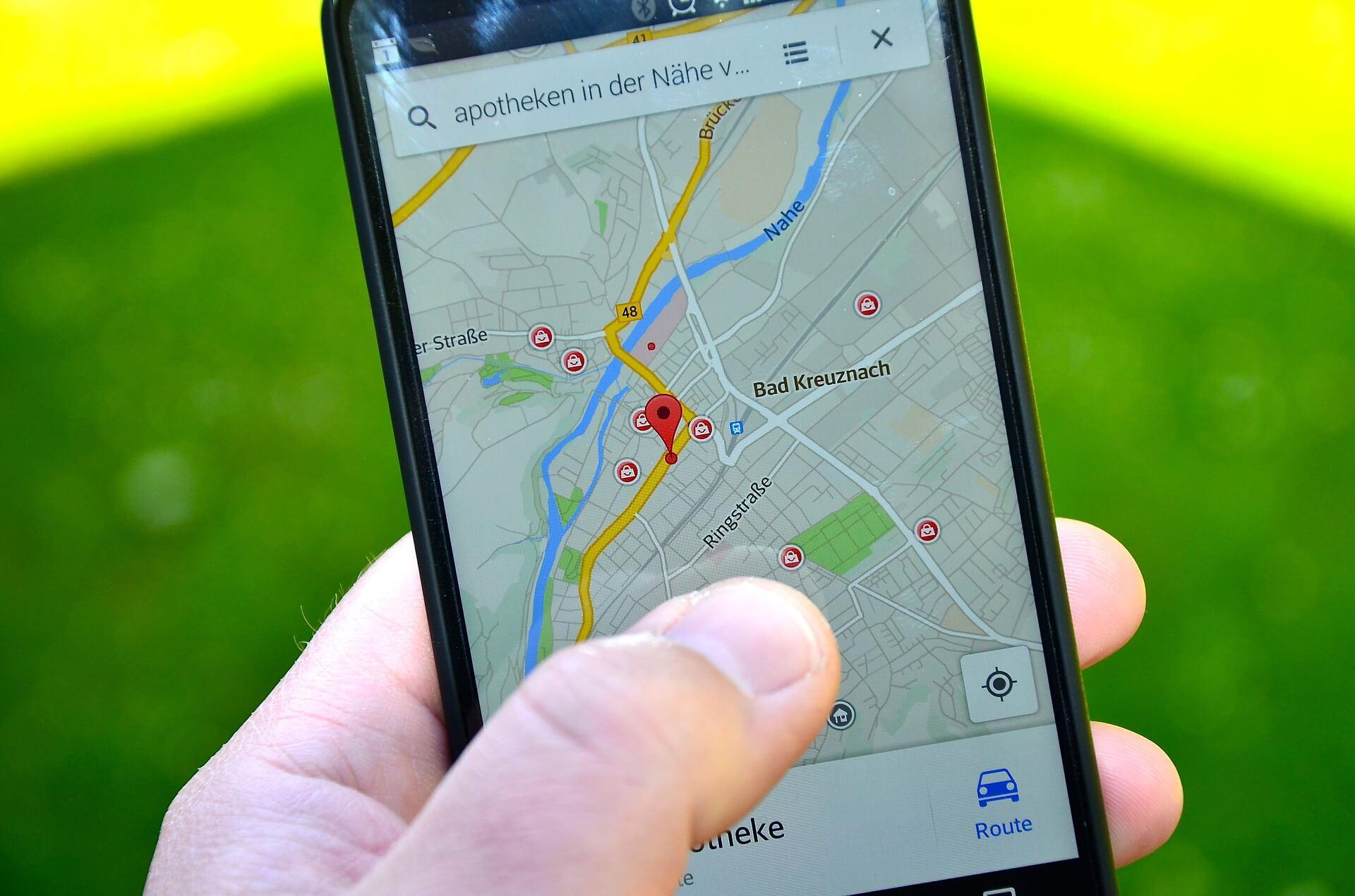 smartphone map